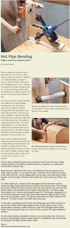 Hot Pipe Bending | WoodworkerZ.com