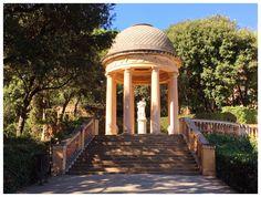 Labyrinth Park Gazebo, Barcelona, Outdoor Structures, Park, Kiosk, Pavilion, Barcelona Spain, Parks, Cabana