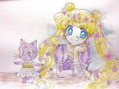 Sailor moon and luna Watch Sailor Moon, Sailor Moon Girls, Sailor Moom, Arte Sailor Moon, Sailor Moon Fan Art, Sailor Moon Usagi, Sailor Moon Crystal, Princesa Serena, Sailor Moon Background