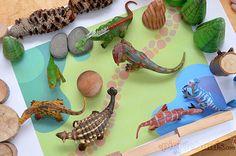 free printable imaginative play mats Dinosaur Play, Dinosaur Activities, Book Activities, Toddler Activities, Kids Play Table, Small World Play, Homemade Toys, Indoor Play, School Games