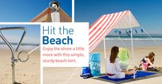 DIY Beach Tent. A must do project for all our beach trips this summer!