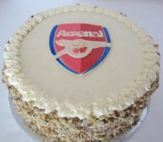 Arsenal FC Groom's Cake By Sleepy_Baker on CakeCentral.com