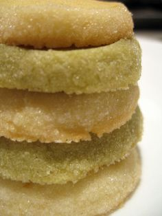 Tequila Sugar Cookies!  2 sticks unsalted butter, at room temperature  2/3 cup confectioners' sugar, sifted  2 large egg yolks, at room temperature  Pinch of salt  4 teaspoons tequila  Grated zest of 2 limes  Grate zest of half an orange  2 cups all-purpose flour  Granulated sugar for coating