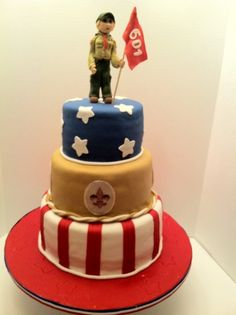 Boy Scout Court of Honor Cake By BelaB on CakeCentral.com