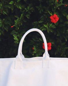 My Life Aquatic white canvas beach bag Life Aquatic, My Life, Kate Spade, Canvas, Instagram Posts, Bags, Tela, Handbags, Totes