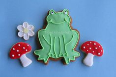 too cute to eat frog cookie