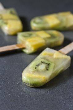 Frozen Kiwi Pineapple Pops - DIY.