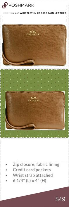 YOUR CLASSIC COACH WRISTLET Invest but Don't Break Your Wallet and You won't with This Timeless Signature Must Have and Sold at 75.00 Tag still Attached Coach Bags Clutches & Wristlets