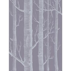 Buy Cole & Son Woods Wallpaper, Mauve / White, 69/12151 Online at johnlewis.com
