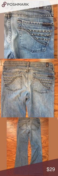 7 seven for all mankind Jeans 28 Perfect fit jeans. Distressed. Jeans are pre owned. Worn-in. 28 x 28 7 For All Mankind Jeans Flare & Wide Leg