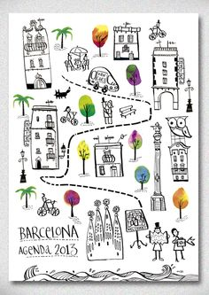 Barcelona for Vancart agendas 2013 - amaia arrazola illustration