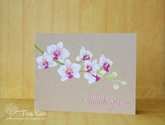 rainbow in november: Thank you Oriental Orchid stamp set from Altenew.