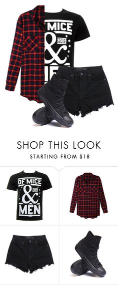 """Untitled #559"" by bands-are-my-savior ❤ liked on Polyvore featuring LE3NO, T By Alexander Wang and Converse"