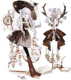 Guardados / Twitter Fantasy Character Design, Character Design Inspiration, Character Concept, Character Art, Kawaii Anime Girl, Anime Art Girl, Manga Art, Anime Girl Drawings, Cute Drawings