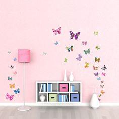 Decowall DW-1201, 38 Colourful Butterflies Wall Stickers /wall decals/wall transfers/wall tattoos/wall sticker Decowall http://www.amazon.co.uk/dp/B0093J9BRM/ref=cm_sw_r_pi_dp_XpUXtb0PJ5T6XVP0