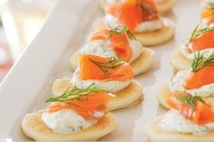 Smoked salmon and creme fraiche blinis – Recipes – Bite