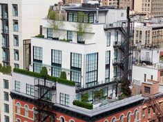 Modern Art Deco: Rooftop Townhouse, Tribeca, New York