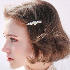 2019 Fashion Women Full Pearl Hair Clips Snap Barrette Stick Hairpins Hair Styling Tools Hair Accessories Hairgrip Gift Hairstyles - Elizabeth B. Cute Hairstyles, Braided Hairstyles, Ulzzang Hair, Asian Short Hair, Hair Grips, Hair Reference, Pearl Hair, Face Hair, Styling Tools