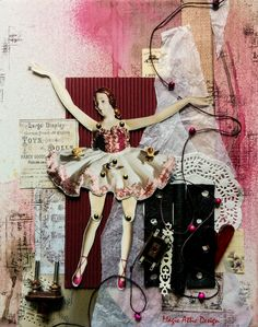 "Magic Attic Design mixed media layout ""Marionette"" (with figure from Daphne´s Diary)"