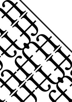 """Mrs Eaves. Zuzana Licko, 1996. Pattern 1 (bn): """"Lineare"""". Glifi utilizzati:legatura """"ff"""" e """"-"""" riflesse orizzontalmente e verticalmente. Ho scelto queste lettere perchè caratteristiche lineari che ben si addicono all'aggettivo scelto. La linearità delle aste delle f e delle grazie sono interessanti."""