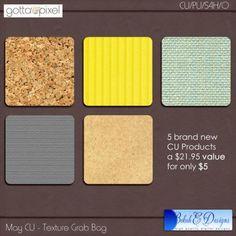 May Digital Scrapbooking CU Texture Grab Bag