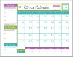 work out schedule planner