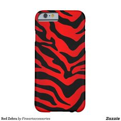 Red Zebra Barely There iPhone 6 Case