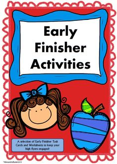 """This resource is for your early finishers (the students who always seem to be saying """"I'm done, now what?""""). It includes over 20 educational task cards which encourage students to read, write, and think creatively.   This resource also includes over 20 printable worksheets :)"""