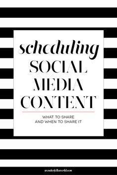 Scheduling Social Media Content - What to share and when to share it. For bloggers and small business owners, the content you share on social media should be intentional. This post breaks down the types of content you should be sharing and various methods for scheduling posts and analyzing your social media engagement