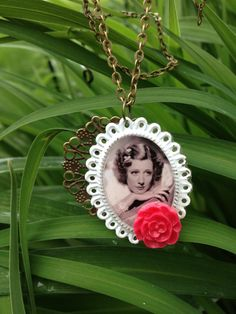 Irene Dunne Necklace Black and White Movie Starlet by Good2BGiddy, $20.00