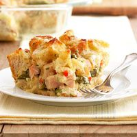 Smoked Chicken and Asparagus Strata with Dill Havarti Recipe