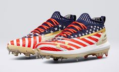 Bryce Harper's New Under Armour Home Run Derby And All-Star Game Cleats Are Straight Fire Metal Baseball Cleats, Baseball Gear, Baseball Shoes, Football Cleats, Softball, Baseball Stuff, Bryce Harper, All Star, Mlb