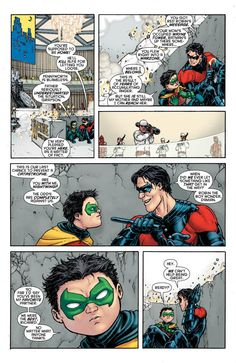 Touching fun moment between the first and last Robin's this week >> This Just Happened: A Death in the Family   DC Comics