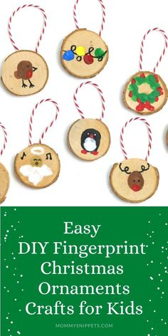 Easy DIY Christmas Ornaments Crafts for Kids