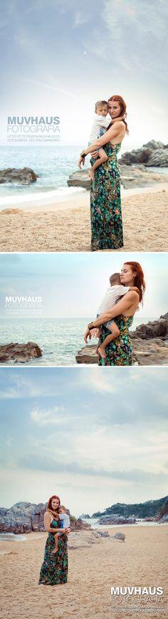Séfora Camazano Fotografia - Sesion Familia - Playa - Madre e hijo
