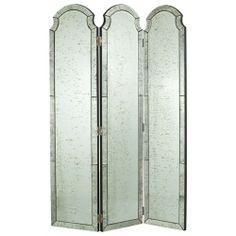Isabella Mirrored Room Screen - Arteriors   domino.com