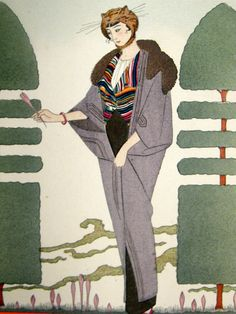 George Barbier (1882-1932) - French Art Deco Fashion Illustrator - Gazette Du Bon Ton, 1914