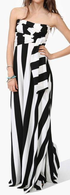 Stripe Changeable Maxi Dress //
