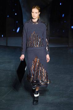 Kenzo AW 2014 - embellished knitwear - Best Paris Runway Fashion - Harper's BAZAAR
