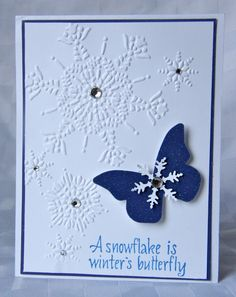 a snowflake is winters butterfly Black background, white snowflakes and saying a snowflake is winter's butterfly  snowflake snowflakes winters butterfly black and white typography saying.