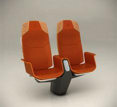 ISEAT - Investigação e Desenvolvimento integrado de componentes para bancos ferroviários Transport Train  Interior Seat Almadesign