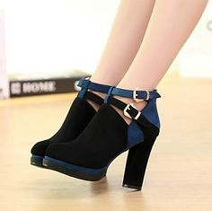 Bombas de la plataforma de los zapatos de tacones gruesos de ante de las mujeres de los zapatos más colores disponibles - EUR € 19.12