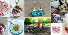Aprende cómo encapsular flores deshidratadas y hacer joyería Silver, Diy, Resin Furniture, Jars, Glass, Crafts To Make, Pebble Stone, Jewerly, Bricolage