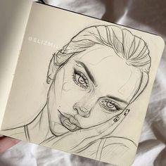 Art Drawings Sketches Simple, Pencil Art Drawings, Arte Sketchbook, Sketchbook Ideas, Sketchbook Inspiration, Art Inspiration Drawing, Sketch Painting, Aesthetic Art, Cute Art