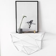 White Geo Shelf