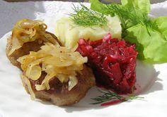 W Mojej Kuchni Lubię.. : czosnkowe mielone z łopatki z cebulką i z buraczka...