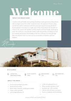 Airbnb Welcome Book Template by JannaLynnCreative on Vacation Home Rentals, Airbnb Rentals, Airbnb Host, House Rules, Us Beaches, Rental Property, Location, Beach House, Beach Condo