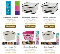Home storage ideas and deals