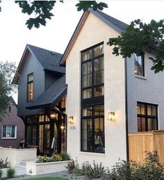 Modern Farmhouse Exterior, Modern Home Exteriors, House Exteriors, Dream House Exterior, House Exterior Design, Interior Design, House Goals, Home Fashion, House Colors