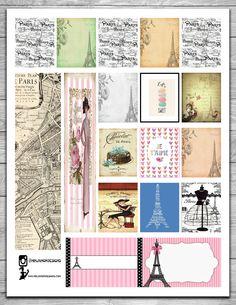 Free Paris Planner Stickers